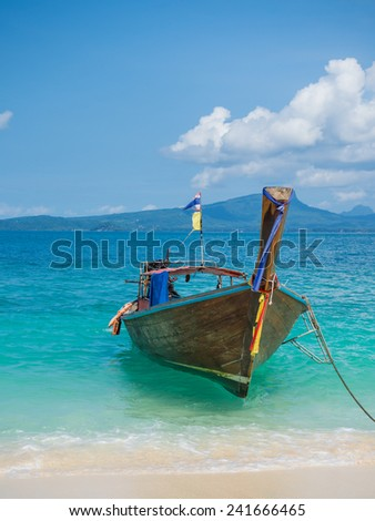 Long tailed boat Ruea Hang Yao in Phuket Thailand