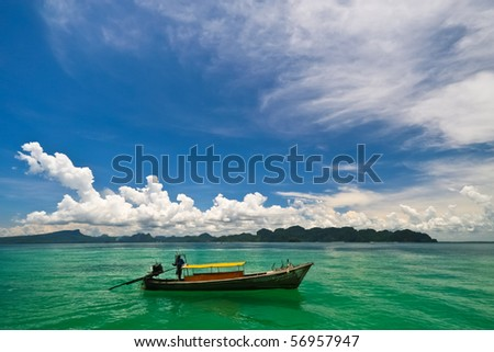 Long-tailed boat , Thailand