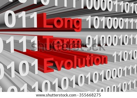 Long Term Evolution is presented in the form of binary code - stock photo