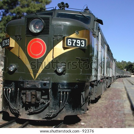 Long Train - stock photo