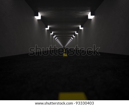 Long tunnel - stock photo