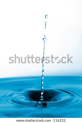 long water drop - stock photo