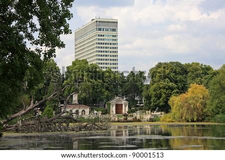 Long Water, Hyde Park, London - stock photo