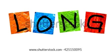 Long writing on paper color - stock photo