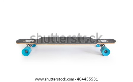 Longboard isolated on white. - stock photo