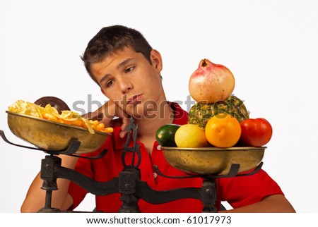 Longing for junk food - stock photo