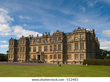 Longleat House in Wiltshire England - stock photo