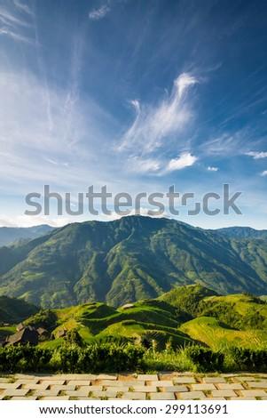 Longsheng rice terraces guilin china landscape - stock photo