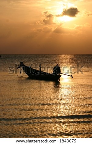 Longtail at Sunset, Thailand