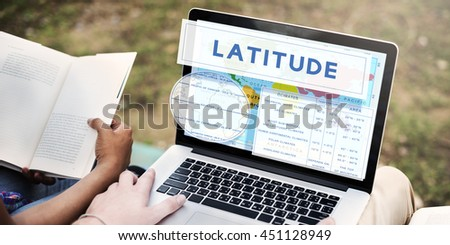 Longtitude Latitude World Cartography Concept - stock photo