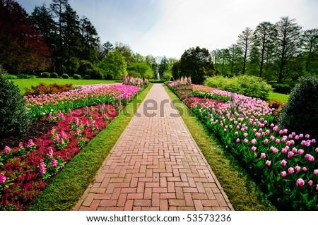 Longwood gardens - stock photo
