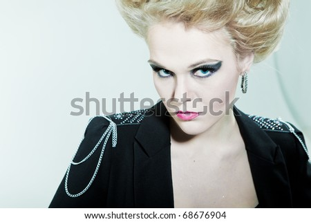 Look askance fashion girl - stock photo