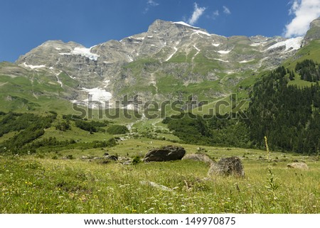 Look from the Grossglockner road, austria, alps