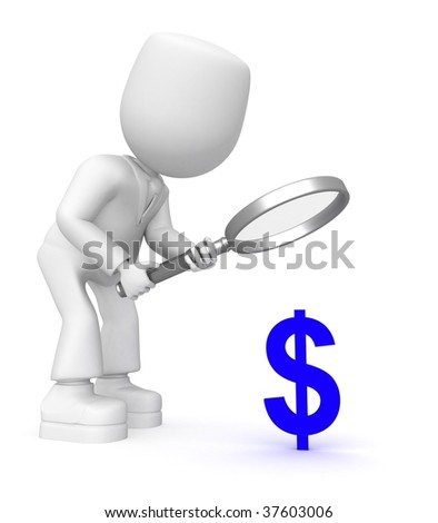 look into dollar - stock photo