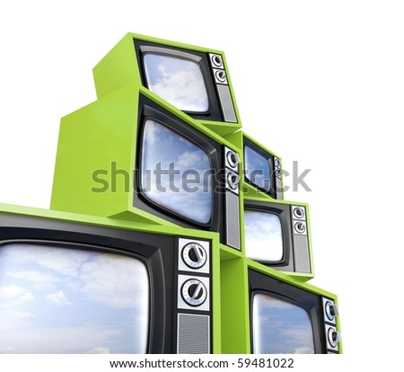 Look more TV in my gallery - stock photo