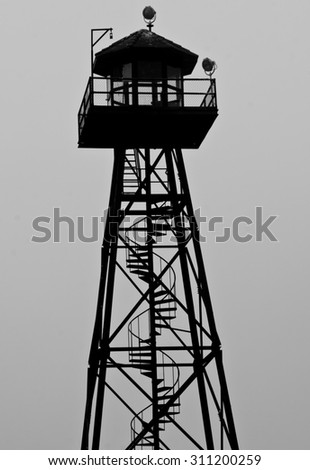 Look Out Tower - stock photo