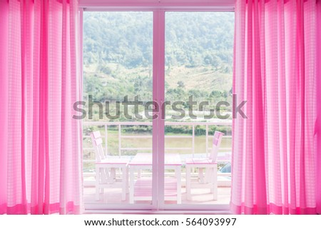 Look Out Window Form Living Room Stock Photo (100% Legal Protection ...