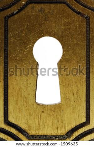 look through the keyhole - stock photo