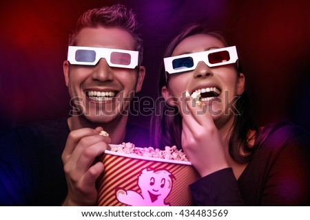 looking a new blockbuster movie - stock photo