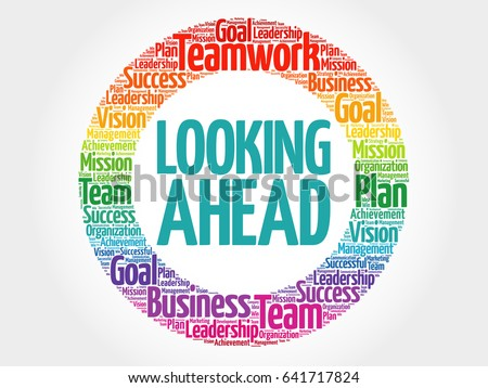 Looking ahead circle word cloud business stock illustration looking ahead circle word cloud business concept thecheapjerseys Gallery