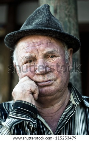 looking at you with thinking face - stock photo