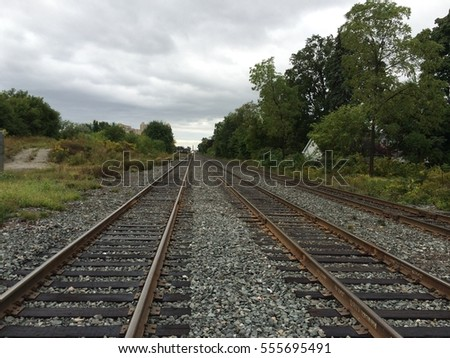 Looking down the railroad tracks