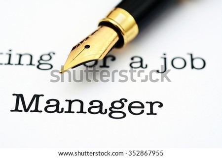 Looking for a job manager
