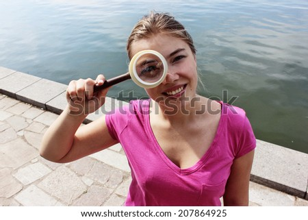 Looking for a job or Googly eyes - stock photo