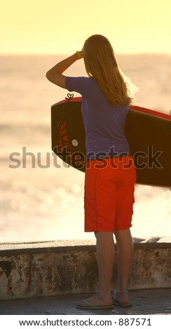 Looking for a wave - stock photo