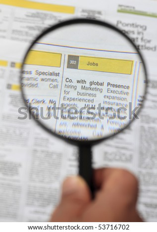 looking for job - stock photo