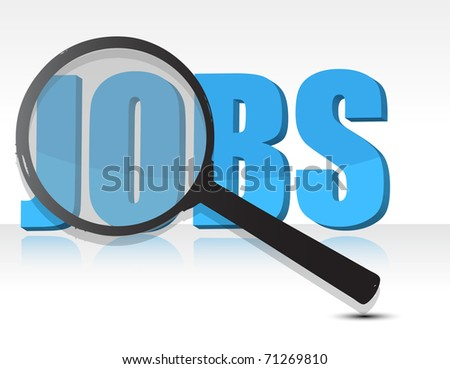 Looking for jobs - stock photo