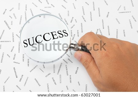 Looking for success. - stock photo