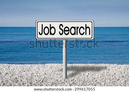 Looking for work for outdoor activities. Job search concept image - stock photo