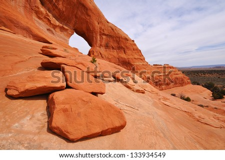 Looking Glass Arch Near Moab Utah - stock photo