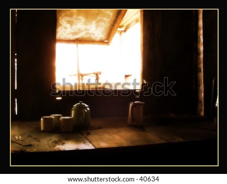Looking out the window - stock photo