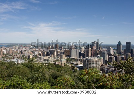 Looking over Montreal city
