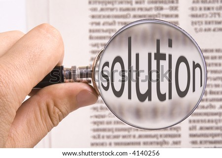 looking solution - stock photo