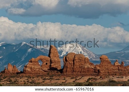 Looking South From Arches National Park - stock photo
