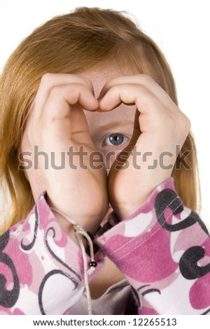 looking through your heart - stock photo