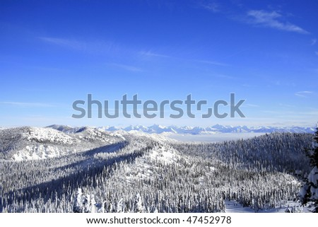 Looking towards Glacier National Park - stock photo