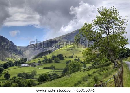 Looking towards the Derwent Fells, Cumbria. - stock photo