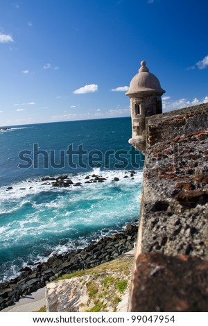 Lookout tower at El Morro Castle, San Juan, Puerto Rico