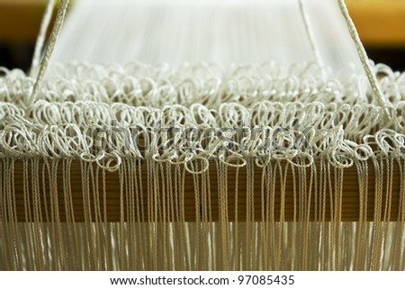 Loom close up - stock photo