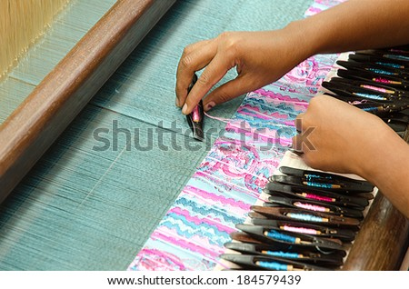 Loom. Myanmar. - stock photo