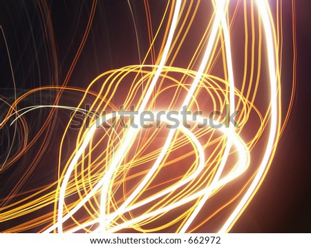 Loops and Strings of Light - stock photo