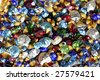 Loose Antique Multicolored Rhinestones - stock photo