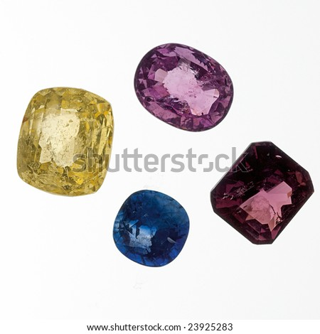 Loose gemstones - stock photo