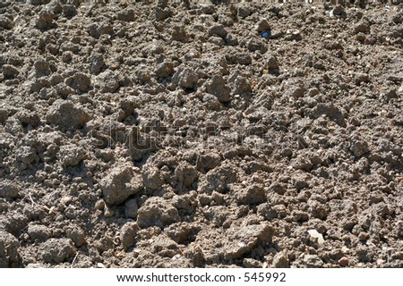 Loose soil on the ground - stock photo