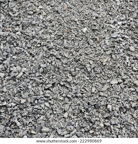 Loose Stone Gravel Background with Plenty of Copy Space - stock photo