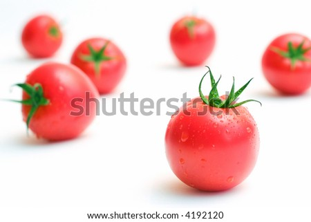 loose tomatoes - stock photo